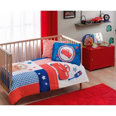 Детский комплект постельного белья ранфорс «Cars Patchwork Baby» TAC