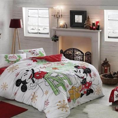 Комплект постельного белья ранфорс «Disney M&M Yeni Yil» TAC