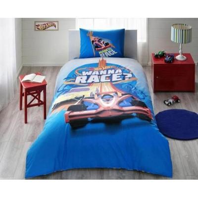 Детский комплект постельного белья ранфорс «Hot Wheels Race» TAC