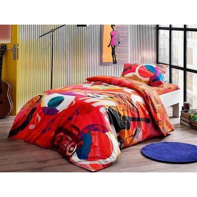 Детский комплект постельного белья ранфорс «Graffiti Player» TAC