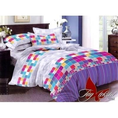 Комплект постельного белья поплин «1702» евростандарт maxi | TAG