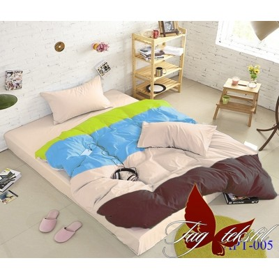 Комплект постельного белья поплин «Color mix APT005» TAG
