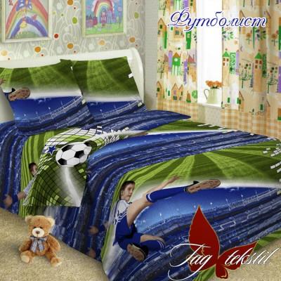 Комплект постельного белья ранфорс «Футболист» полуторный   TAG
