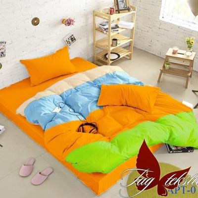 Комплект постельного белья поплин «Color mix APT016» TAG