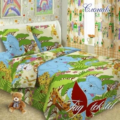 Комплект постельного белья ранфорс «Слоник» полуторный | TAG