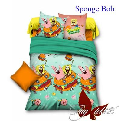 Комплект постельного белья ранфорс «Sponge Bob» полуторный | TAG
