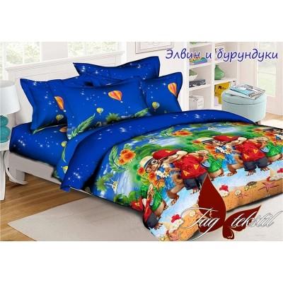 Комплект постельного белья ранфорс «Элвин и бурундуки» TAG