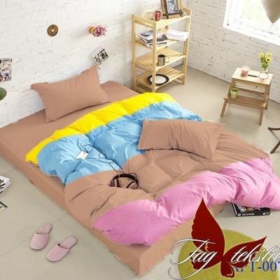 Комплект постельного белья поплин «Color mix APT007» TAG
