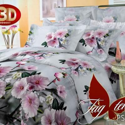 Комплект постельного белья полисатин «3D PS-BL93» семейный | TAG