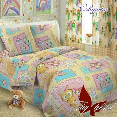 Комплект постельного белья ранфорс «Совушка» полуторный | TAG