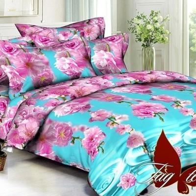 Комплект постельного белья полисатин «PS-BL078» TAG