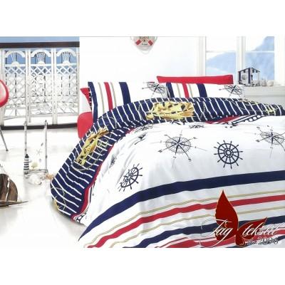 Комплект постельного белья ранфорс «R2096» евростандарт | TAG