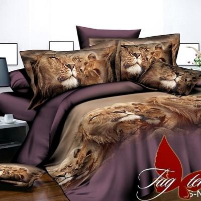 Комплект постельного белья полисатин «PS-NZ 2474» TAG