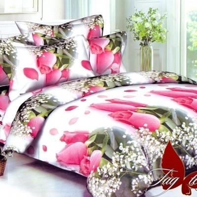 Комплект постельного белья полисатин «PS-BL468» евростандарт | TAG