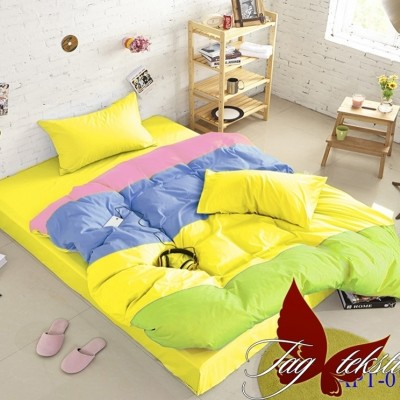 Комплект постельного белья поплин «Color mix APT010» TAG