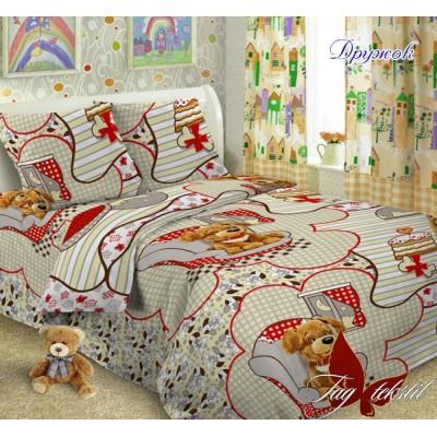 Комплект постельного белья ранфорс «Дружок» полуторный | TAG
