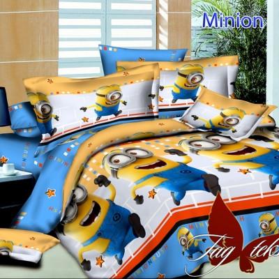 Комплект постельного белья ранфорс «Minion с компаньоном» полуторный | TAG