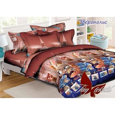 Комплект постельного белья ранфорс «Зверополис» TAG