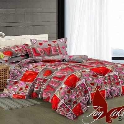 Комплект постельного белья сатин люкс «S-138» полуторный | TAG