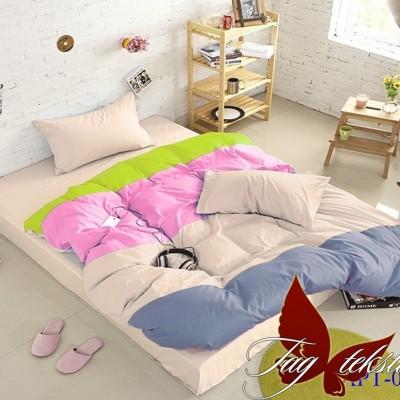 Комплект постельного белья поплин «Color mix APT002» TAG