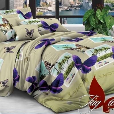 Комплект постельного белья полисатин «PS-NZ 2489» TAG
