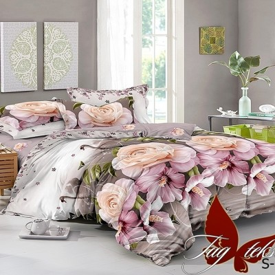 Комплект постельного белья сатин люкс «S-140» полуторный | TAG