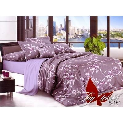 Комплект постельного белья сатин люкс «S-151» TAG
