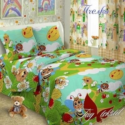 Комплект постельного белья ранфорс «Пчелки» полуторный | TAG
