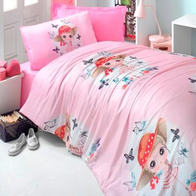 Комплект постельного белья ранфорс «Candy Girl» розовый Light House