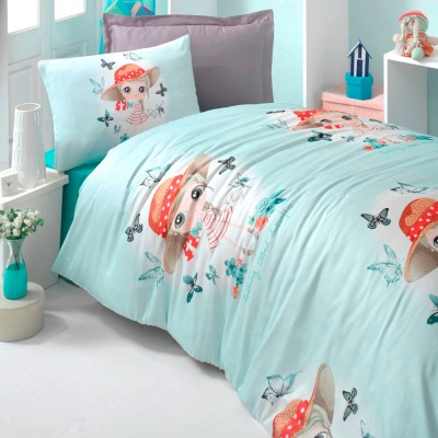 Комплект постельного белья ранфорс «Candy Girl» берюза Light House