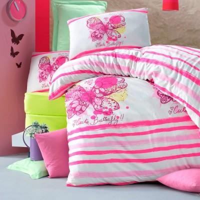 Комплект постельного белья ранфорс «Cute butterfly» Light House