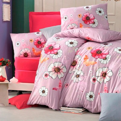 Комплект постельного белья ранфорс «Fly Fleur» Light House