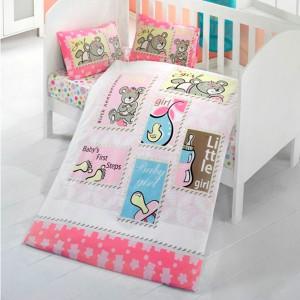 Детский комплект постельного белья ранфорс «Baby Girl» Light House