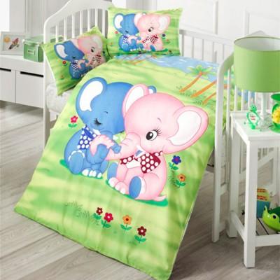 Детский комплект постельного белья ранфорс «Elephant» Light House