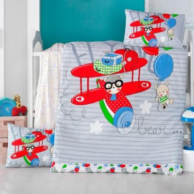 Детский комплект постельного белья ранфорс «Flying» Light House