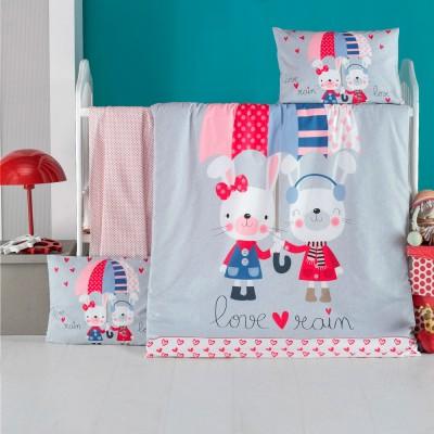 Детский комплект постельного белья ранфорс «Love Rain» Light House