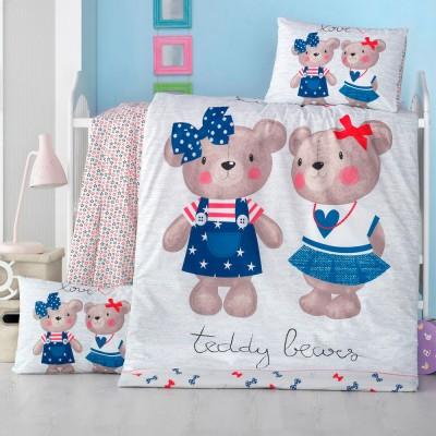 Детский комплект постельного белья ранфорс «Lower» Light House