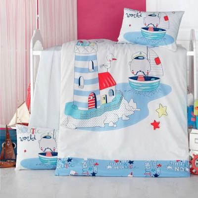 Детский комплект постельного белья ранфорс «Nautic» Light House