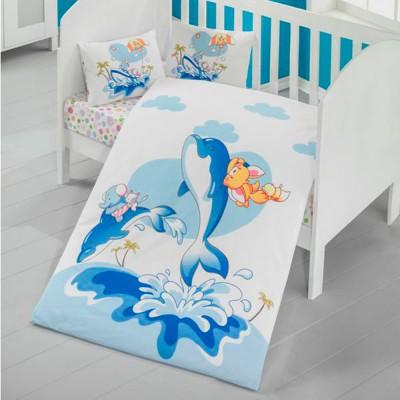 Детский комплект постельного белья ранфорс «Ocean» Light House