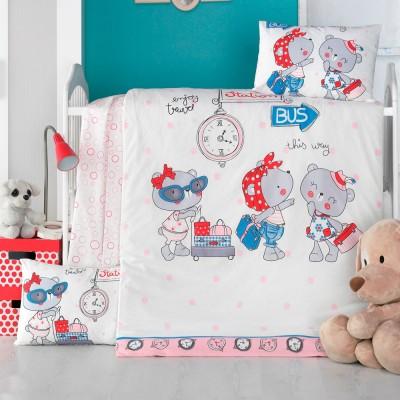 Детский комплект постельного белья ранфорс «Pink station» Light House