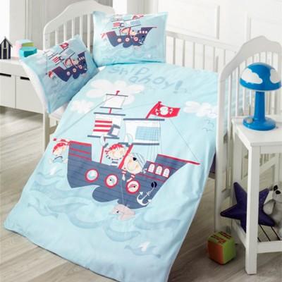 Детский комплект постельного белья ранфорс «Ship» Light House