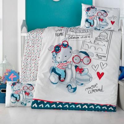 Детский комплект постельного белья ранфорс «Travel Bears» Light House