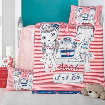 Детский комплект постельного белья ранфорс «Two Girls» Light House