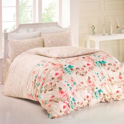 Комплект постельного белья ранфорс «Bouquet» беж Light House