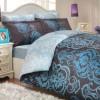 Комплект постельного белья сатин «Monart» голуб Hobby