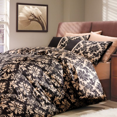 Комплект постельного белья поплин «Avangarde» корич Hobby