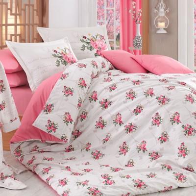 Комплект постельного белья поплин «Paris Spring» розовый Hobby