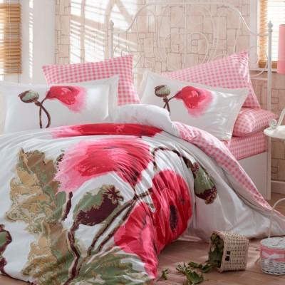 Комплект постельного белья поплин «Miray» розовый Hobby