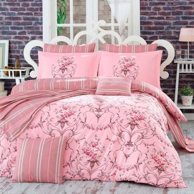 Комплект постельного белья поплин «Ornella» евростандарт | розовый | Hobby