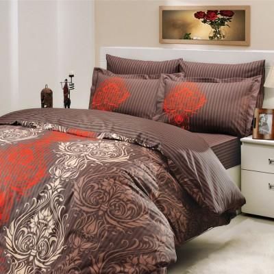 Комплект постельного белья поплин «Royal» корич Hobby